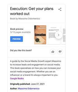 Execution: Get your plans worked out by Massimiliano Anthony Didomenico