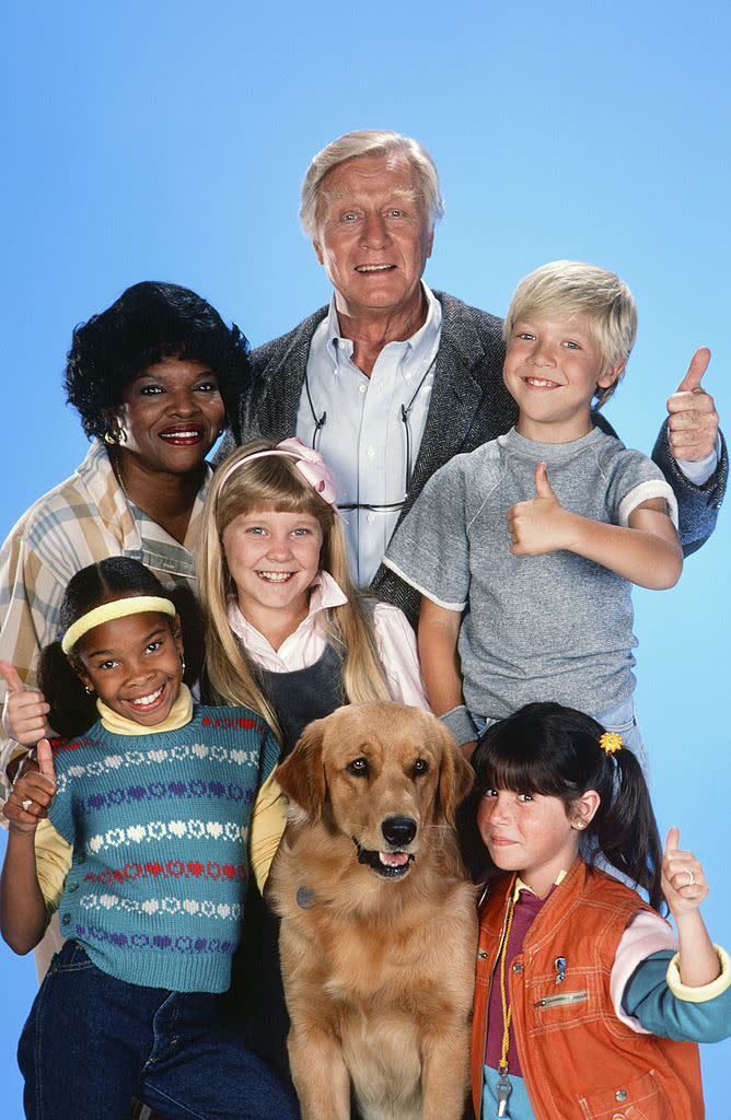 "Soleil Moon Frye, front right, leads the second season cast of ""Punky Brewster."" (Photo: Gary Null/NBCU Photo Bank/NBCUniversal via Getty Images via Getty Images)"