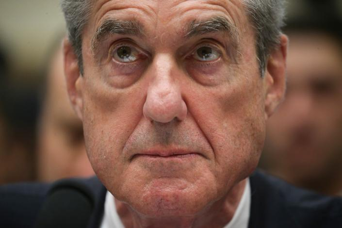 Former special counsel Robert Mueller is seated to testify before a House Intelligence Committee hearing on the Office of Special Counsel's investigation into Russian interference in the 2016 presidential election on Capitol Hill in Washington. (Photo: Leah Mills/Reuters)