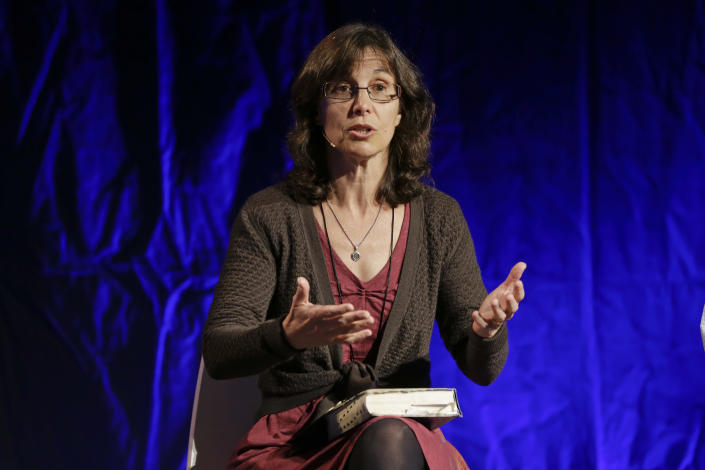 Rosaria Butterfield, a professor who renounced her previous lesbian sex orientation, takes part in a discussion during the Ethics and Religious Liberty Commission National Conference on Tuesday, Oct. 28, 2014, in Nashville. (Photo: Mark Humphrey/AP)