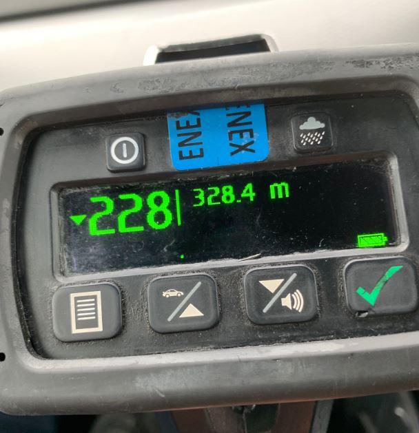 Picture of the speedometer which shows the driver was exceeding the speed limit