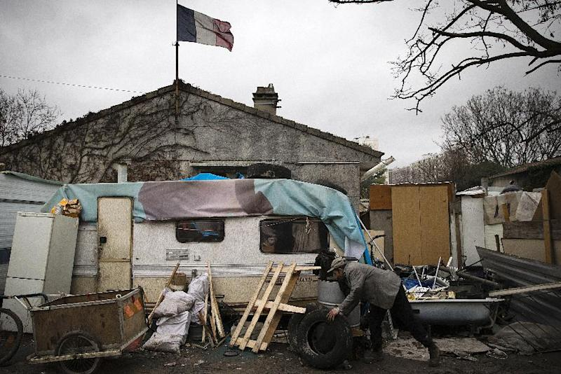 The European Union believes there are currently 10 to 12 million Roma throughout Europe, such as at this encampment in Ivry-sur-Seine, southern Paris (AFP Photo/Joel Saget)
