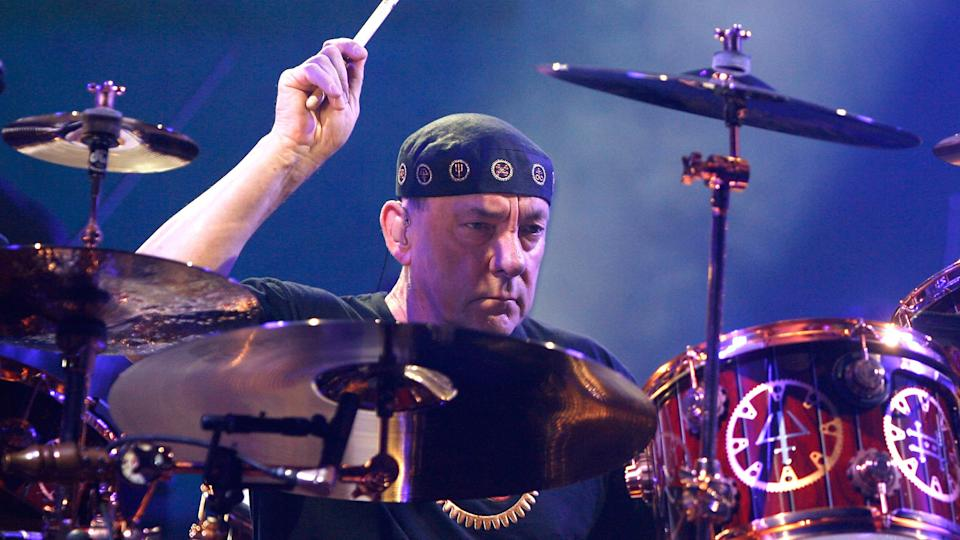 Neil Peart en octobre 2012 - Mike Lawrie / GETTY IMAGES NORTH AMERICA / AFP