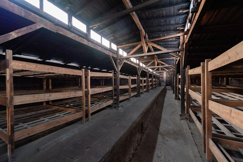View into a prisoner barrack in the former concentration camp Auschwitz-Birkenau on Dec. 5, 2019. (Photo: picture alliance via Getty Images)