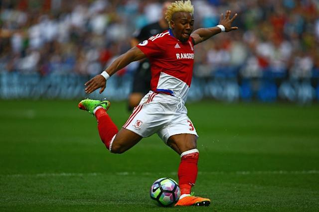 Middlesbrough's Adama Traore in action during the Premier League match against Swansea City at The Liberty Stadium in Wales, on April 2, 2017 (AFP Photo/Geoff CADDICK)