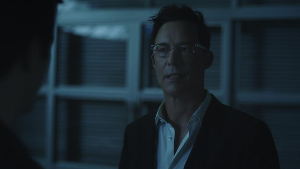 The original Harrison Wells (Tom Cavanagh) is back in The Flash. (PHOTO: Warner TV)