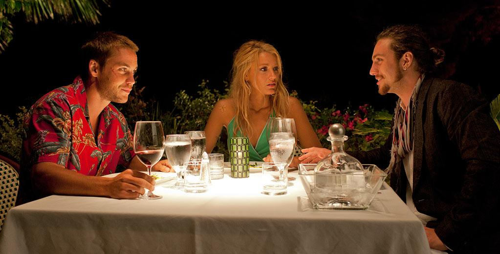 "Taylor Kitsch, Blake Lively and Aaron Johnson in Universal Pictures' ""Savages"" - 2012"