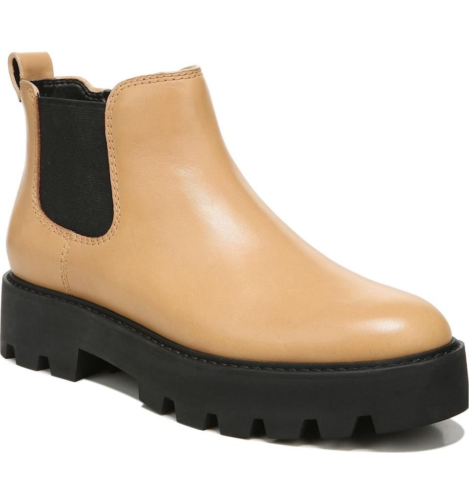 <p>Make this <span>Franco Sarto Balin Bootie</span> ($139) part of your off-duty uniform. With the chunky boots sole and the versatile color, it's the perfect everyday or on-the-go shoe.</p>