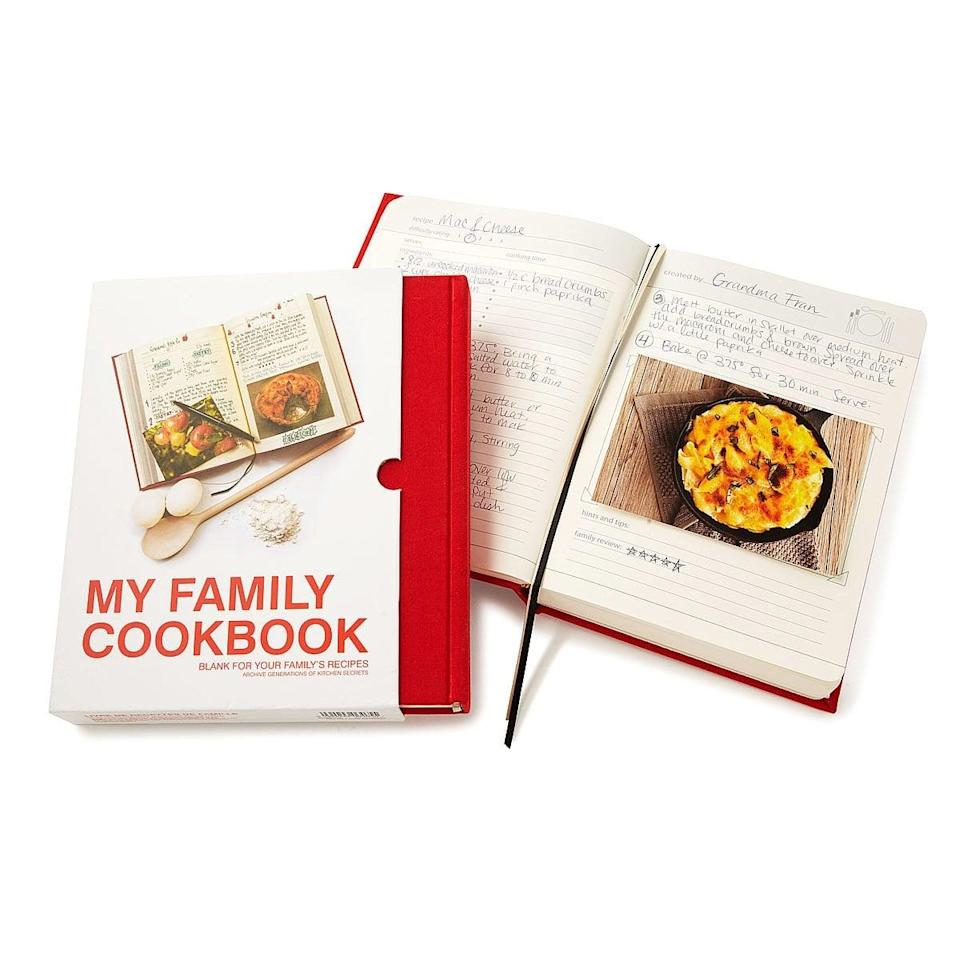 <p>The <span>My Family Cookbook</span> ($30) is the perfect way grandma can leave her legacy. </p>