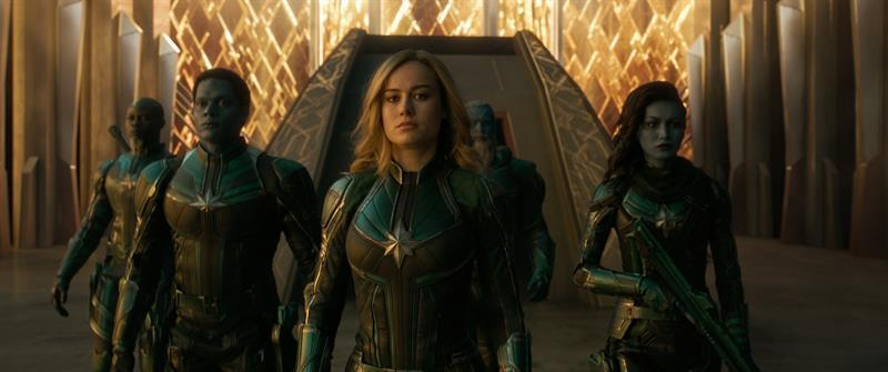 Brie Larson and Gemma Chan in Captain Marvel (Credit: Marvel)