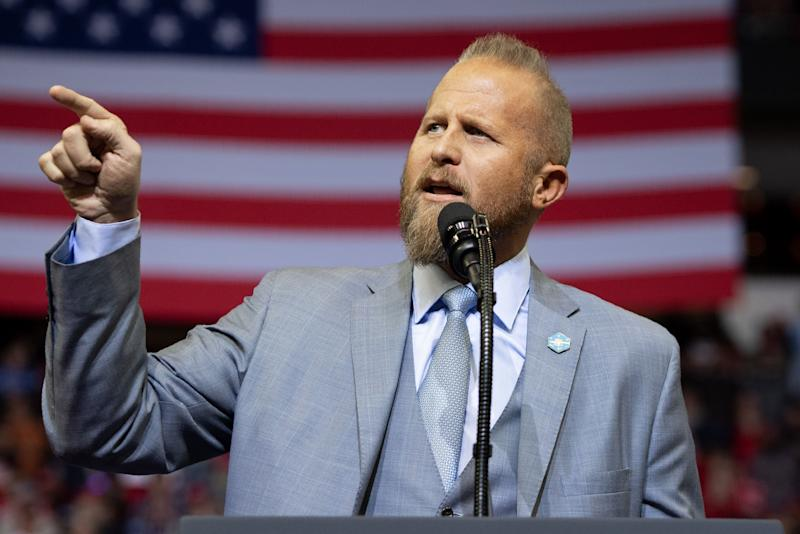 Brad Parscale, campaign manager for Trump's 2020 reelection campaign, speaks during a campaign rally in Houston. (Photo: Saul Loeb/AFP/Getty Images)
