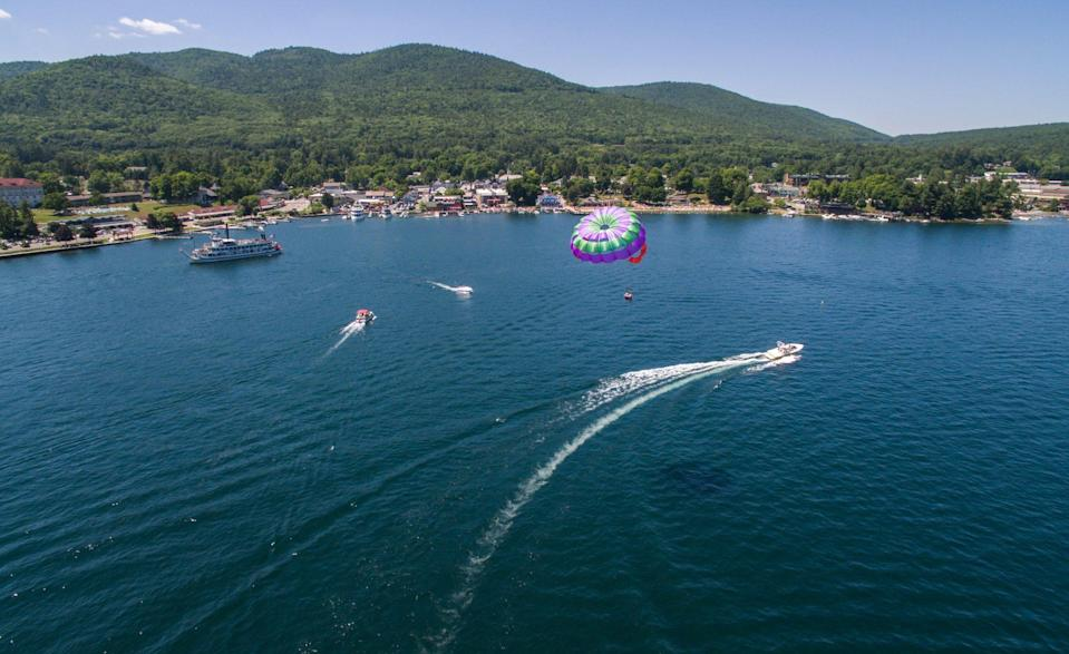 """<p>The so-called """"Queen of American Lakes"""" was a playground for Gilded Age robber barons, many of whose original waterfront stone mansions still line a 10-mile stretch known as Millionaire's Row. Visit <a href=""""https://www.visitlakegeorge.com/"""" rel=""""nofollow noopener"""" target=""""_blank"""" data-ylk=""""slk:Lake George"""" class=""""link rapid-noclick-resp"""">Lake George</a>'s Sagamore Resort, which dates back to the 1880s, still welcomes guests today. Beyond that, there are more hotels, events, restaurants, and attractions.</p>"""