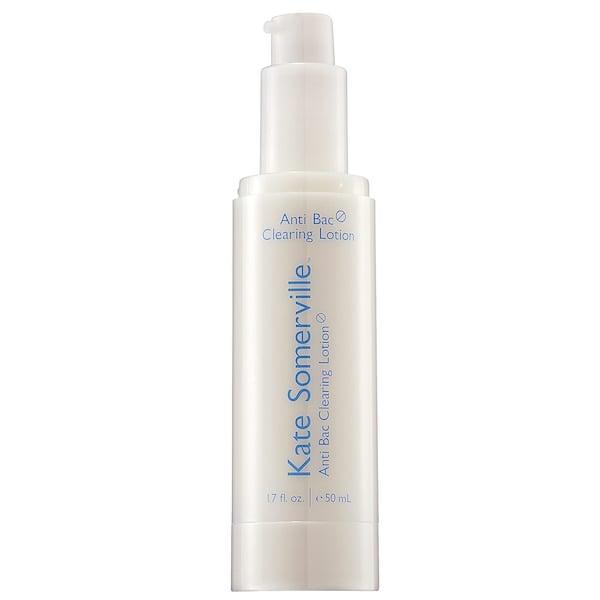 <p>This <span>Kate Somerville Anti Bac Acne Clearing Lotion</span> ($42) has a five-percent benzoyl-peroxide solution that reduces the appearances of blemishes, blackheads, and enlarged pores, while also absorbing excess oil. Several reviewers note that it's not overly drying on skin and can be especially useful with maskne.</p>