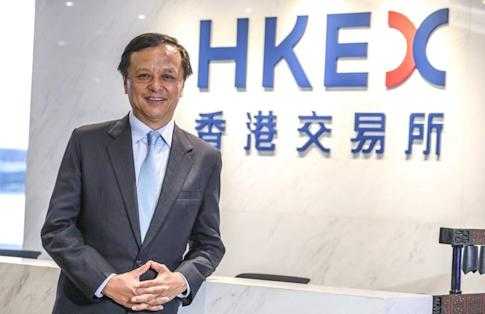 Charles Li Xiaojia, Chief Executive Officer of Hong Kong Exchanges and Clearing Limited, at Exchange Square in Central on 25 November 2019. Photo: Nora Tam