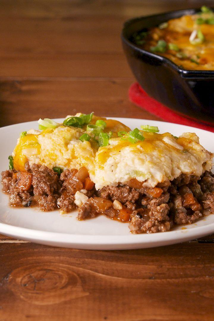 """<p>Don't let the Keto diet keep your from enjoying some of your favourite foods like <a href=""""https://www.delish.com/cooking/recipe-ideas/recipes/a57949/easy-shepherds-pie-recipe/"""" rel=""""nofollow noopener"""" target=""""_blank"""" data-ylk=""""slk:Shepherd's Pie"""" class=""""link rapid-noclick-resp"""">Shepherd's Pie</a>. Our topping is made with cauliflower and mashed together with cream cheese and plenty of cheddar to make this an extra cheesy shepherd's pie and we couldn't stop eating it straight out of the pan. </p><p>Get the <a href=""""https://www.delish.com/uk/cooking/a31201065/keto-shepherds-pie-recipe/"""" rel=""""nofollow noopener"""" target=""""_blank"""" data-ylk=""""slk:Keto Shepherd's Pie"""" class=""""link rapid-noclick-resp"""">Keto Shepherd's Pie</a> recipe.</p>"""
