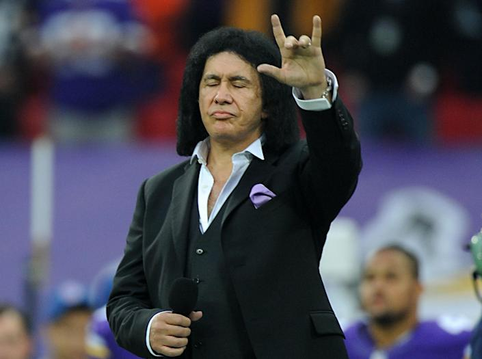 """<p>KISS frontman Gene Simmons told Rolling Stone that he supported building the wall and likes his style. 'He does not need your money, and he will speak his mind, Goddamnit, whether you like it or not. And he has no problem saying, """"F**k off."""" I like that. Even if I disagree.' (PA) </p>"""