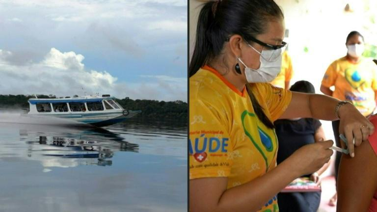 People in the Brazilian Amazon are vaccinated against Covid