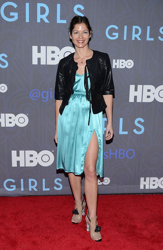 "Jill Hennessy attends HBO's premiere of ""Girls"" Season 2 at the NYU Skirball Center on January 9, 2013 in New York City."