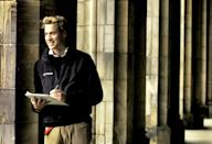 <p>William in St Salvator's Quad in November 2004, at St Andrews University during his last year as a student. (David Cheskin/PA)</p>