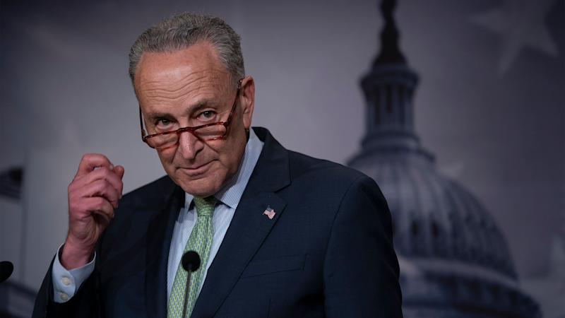 Senate Minority Leader Chuck Schumer (D-N.Y.) said Tuesday that it's possible to shame Senate Majority Leader Mitch McConnell into action. (Photo: ASSOCIATED PRESS)