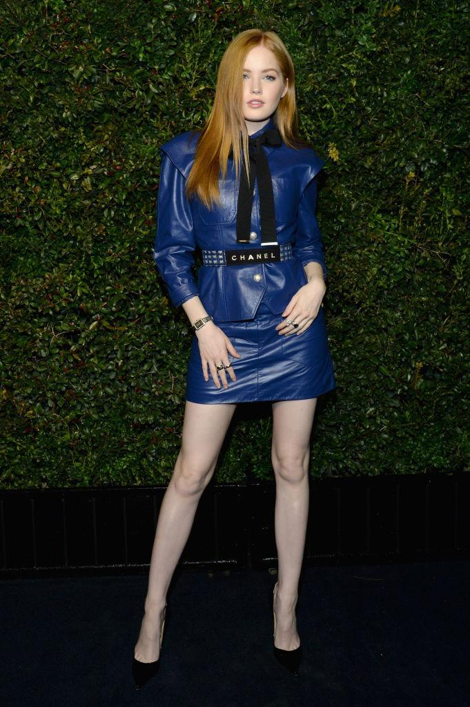 <p>Ellie Bamber in super-sexy Chanel (Photo: Getty images) </p>