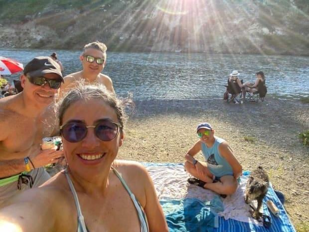 CBC Calgary asked peopleto sharephotos showing how they're cooling off and enjoying Alberta's heat wave and got some wonderful shots, including this one from Ofelia Giles. (Ofelia Giles - image credit)