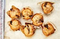 """Honey-glazed apples and toasted pecans maximize the tart, nutty flavor of these tender muffins. Tangy buttermilk keeps them from getting too sweet. <a href=""""https://www.epicurious.com/recipes/food/views/apple-honey-pecan-muffins?mbid=synd_yahoo_rss"""" rel=""""nofollow noopener"""" target=""""_blank"""" data-ylk=""""slk:See recipe."""" class=""""link rapid-noclick-resp"""">See recipe.</a>"""