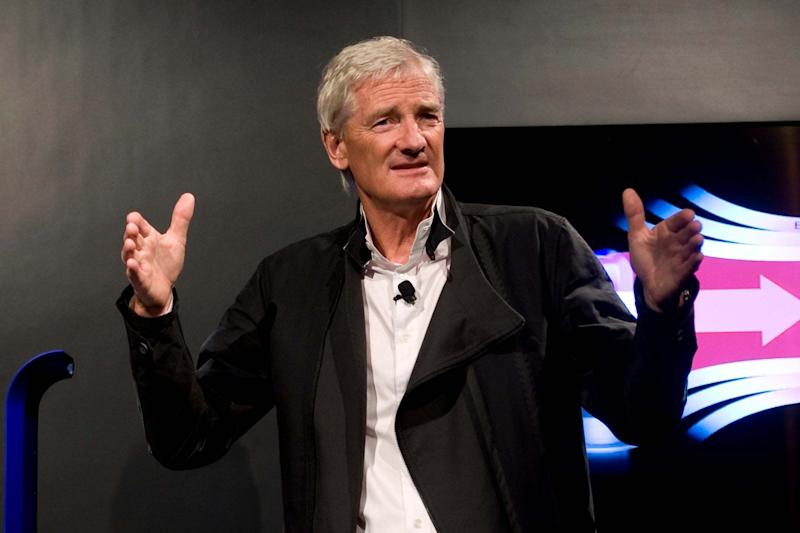 James Dyson said the company received an initial order of 10,000 units from the UK (AP)