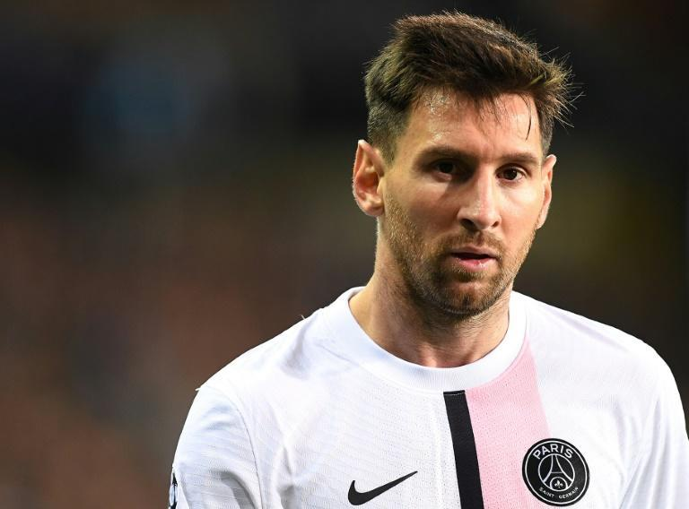 Lionel Messi made his first start for PSG in their 1-1 draw with Club Brugge (AFP/JOHN THYS)
