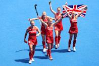 <p>Great Britain walked away with a bronze medal in the women's hockey with a 4-3 victory against India. The win marks the third Olympic Games in a row that Team GB have won a medal in the sport, after they also bagged gold at Rio 2016 and bronze at London 2012.<br><br></p>