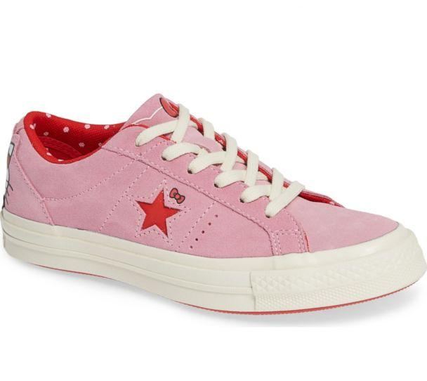 PHOTO: These pink Converse One Star sneakers feature a Hello Kitty design. (Nordstrom)