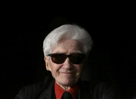 File photo of director Alain Resnais attending a news conference at the 65th Cannes Film Festival