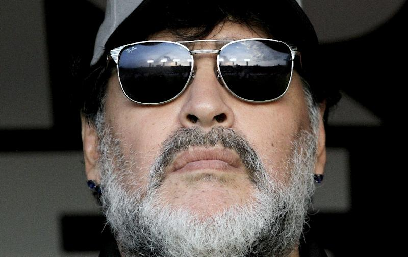 Diego Maradona, 58, has injured his shoulder and will have to undergo surgery, says the director of a documentary about his life to be screened at the Cannes film festival on Sunday (AFP Photo/Ulises Ruiz)