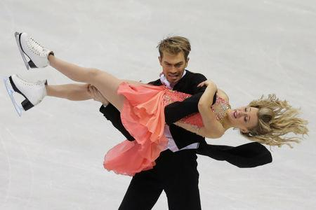 FILE PHOTO: Penny Coomes and Nicholas Buckland of Britain perform during the ice dance short dance program at the ISU European Figure Skating Championship in Bratislava, Slovakia, January 28, 2016. REUTERS/David W Cerny/File Photo