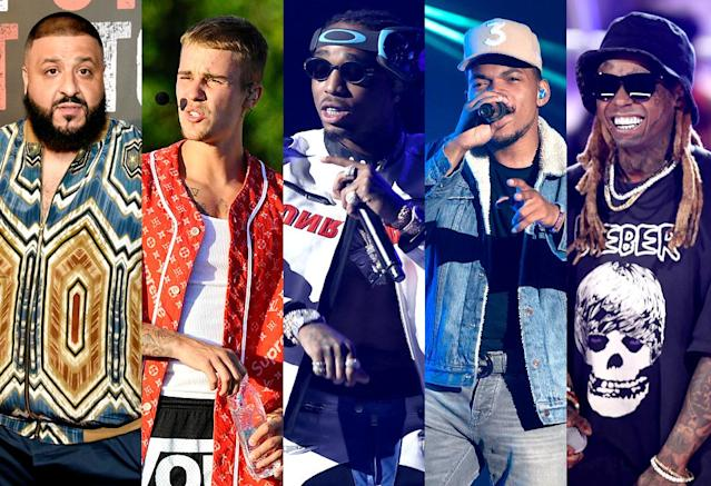 "<p>This is the bestselling hip-hop song so far this year. It was DJ Khaled's first No. 1 hit; Bieber's fourth No. 1, Lil Wayne's third, and Quavo's second (counting one with Migos). <a href=""https://www.youtube.com/watch?v=weeI1G46q0o"" rel=""nofollow noopener"" target=""_blank"" data-ylk=""slk:LISTEN HERE"" class=""link rapid-noclick-resp""><strong>LISTEN HERE</strong></a>.<br>(Photo: AP Images) </p>"