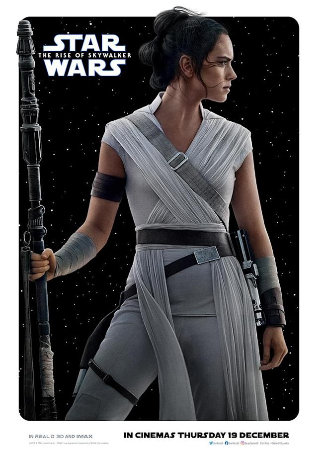 Daisy Ridley is ready to face whatever Episode IX throws at Rey. (Disney)