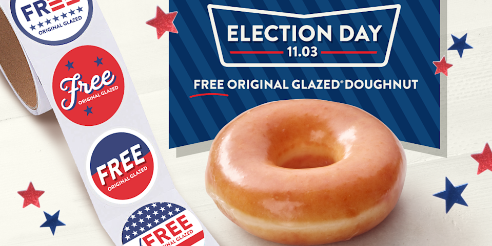 Krispy Kreme Is Giving Out Free Doughnuts on Election Day, So Get Psyched to Vote