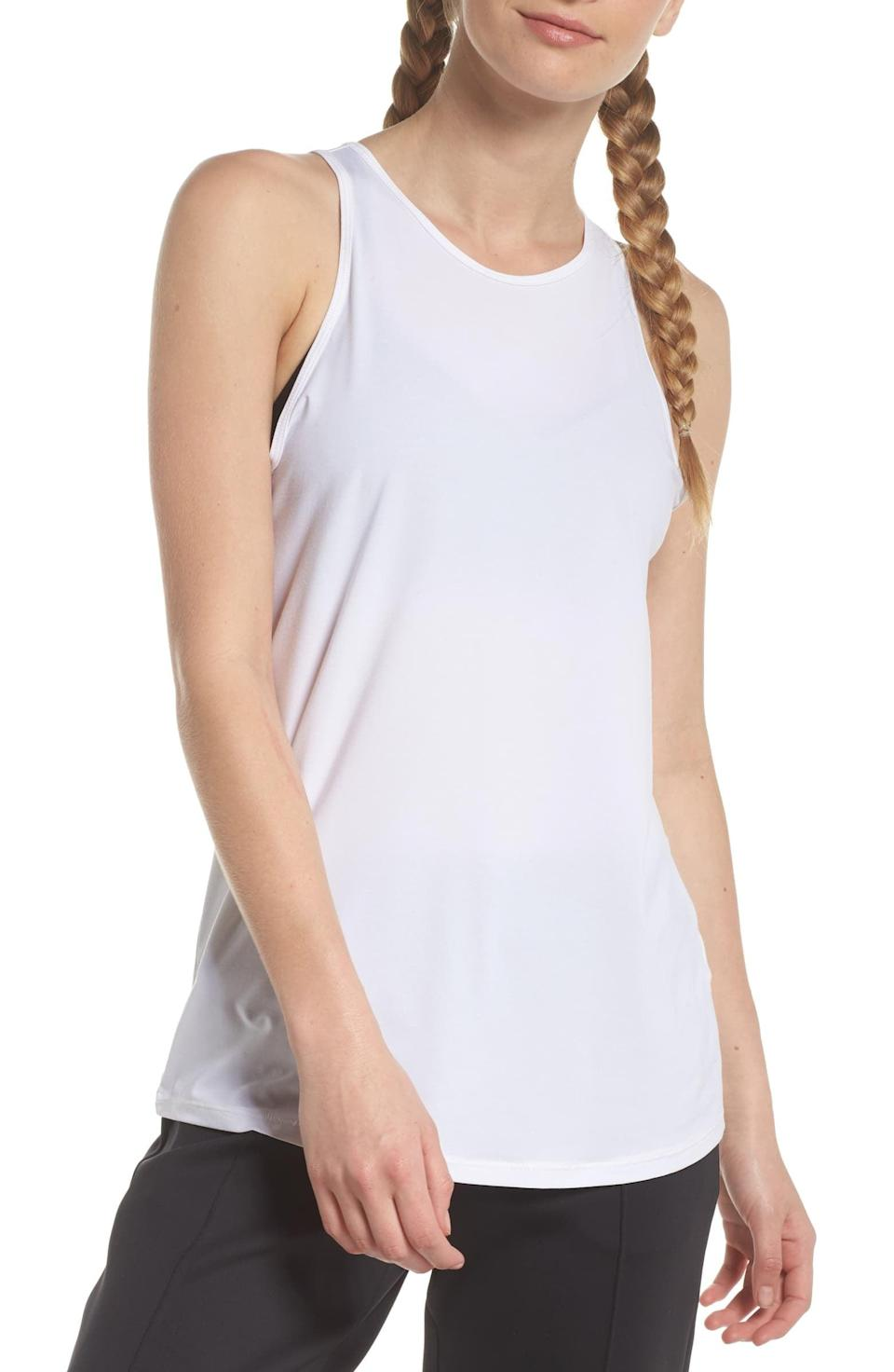 <p>You are going to want to work out exclusively in this <span>Zella Strength Racerback Tank</span> ($25).</p>