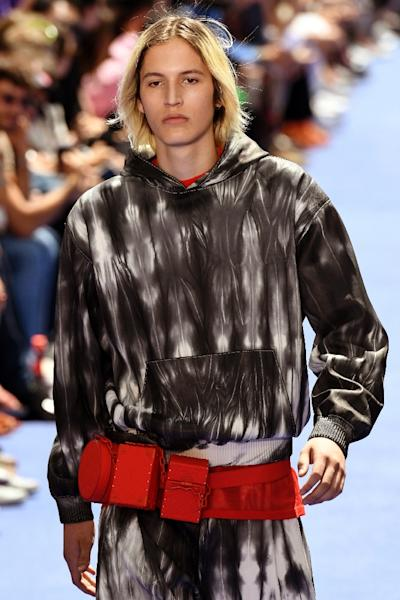 Abloh didn't stint on luxury silks and leathers that have been Vuitton's trademark down the years (AFP Photo/BERTRAND GUAY)