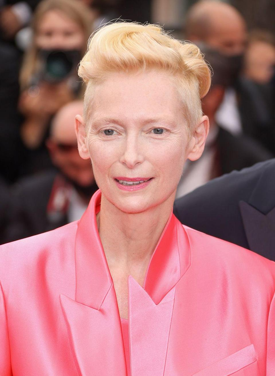 <p>Leave it to actress <strong>Tilda Swinton</strong> to have a fresh take on platinum hair. If you have lighter features, sometimes platinum locks can wash you out — but this warmer version lights up everyone's face.</p>