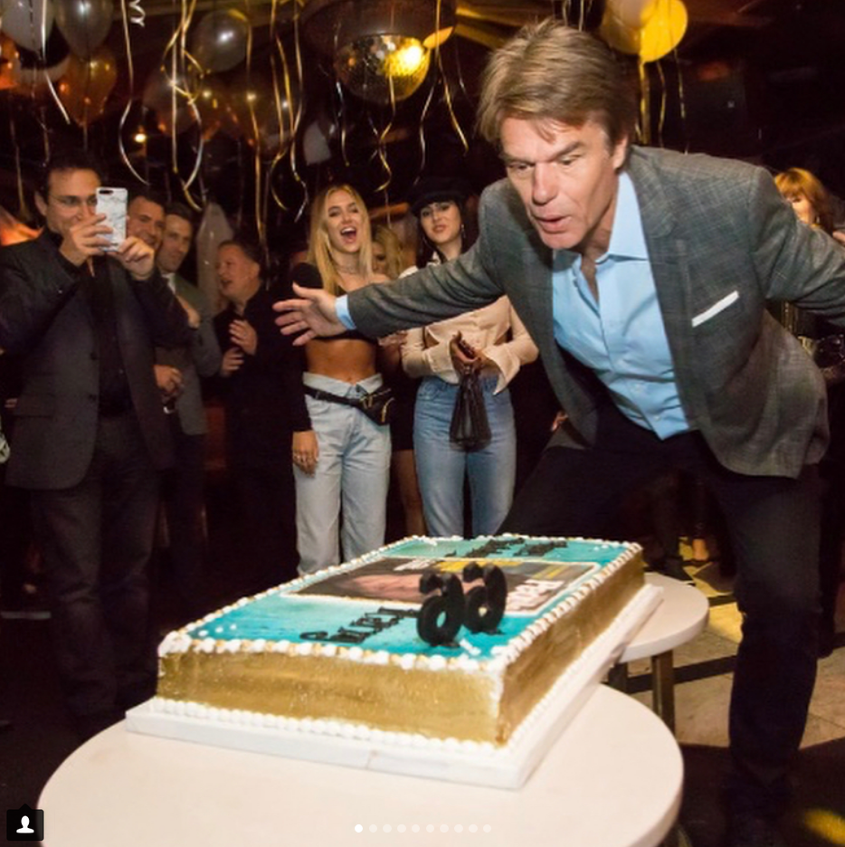 """<p><span><span title=""""Edited"""">""""Surprising Harry for his birthday was so much fun!"""" the doting wife captioned this amazing pic of her husband blowing out the candles on a cake featuring his <em>People</em> magazine Sexiest Man Alive cover from 1987. Hamlin turrned 66 on Monday. </span></span>(Photo: <a href=""""https://www.instagram.com/p/Ba-XomxhD6q/?hl=en&taken-by=lisarinna"""" rel=""""nofollow noopener"""" target=""""_blank"""" data-ylk=""""slk:Lisa Rinna via Instagram"""" class=""""link rapid-noclick-resp"""">Lisa Rinna via Instagram</a>)<br><br></p>"""