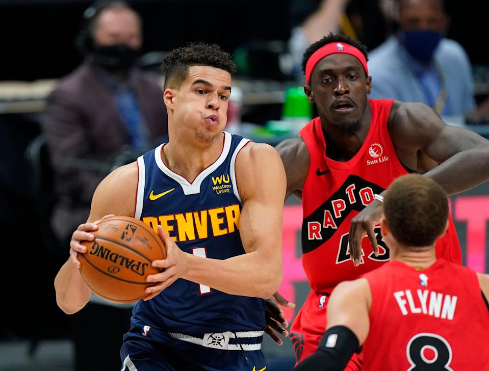 Michael Porter Jr., who scored 23 points in Thursday's win over the Raptors, has helped the Nuggets overcome the season-ending injury to Jamal Murray.