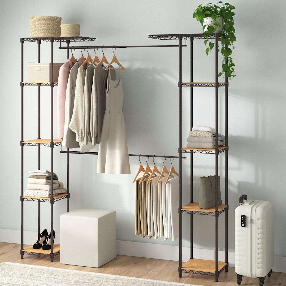<p>We like the functional and modern look of these <span>Dotted Line Eric Closet System Reach-In Sets</span> ($220).</p>