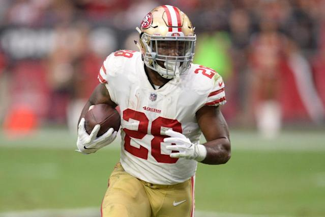 "Will <a class=""link rapid-noclick-resp"" href=""/nfl/players/27585/"" data-ylk=""slk:Carlos Hyde"">Carlos Hyde</a> finally taste victory this week? (Joe Camporeale-USA TODAY Sports)"