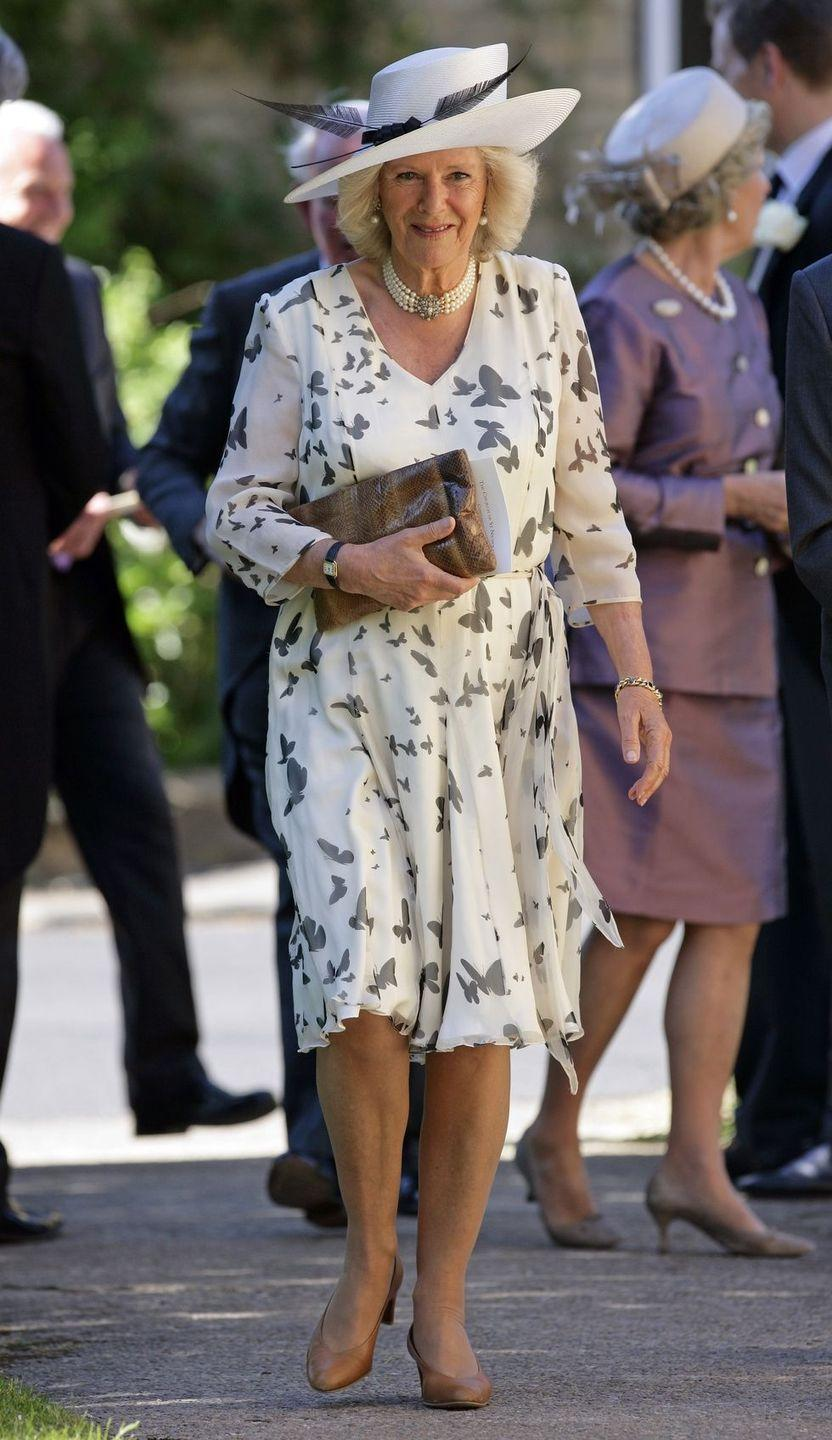 <p>Camilla had butterflies (on her dress, that is) for this springy wedding in Chipping Norton. </p>