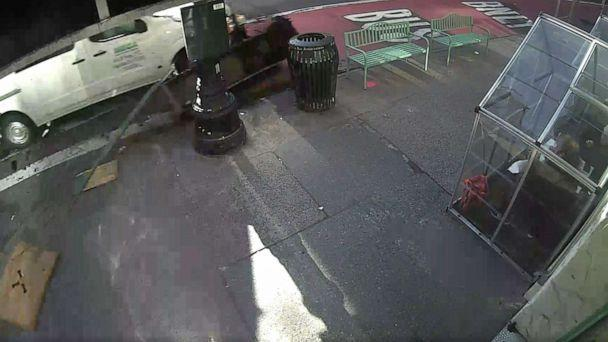 PHOTO: Surveillance video captured a van before it hit a car in New York City, March 5, 2021. (Blank Slate)