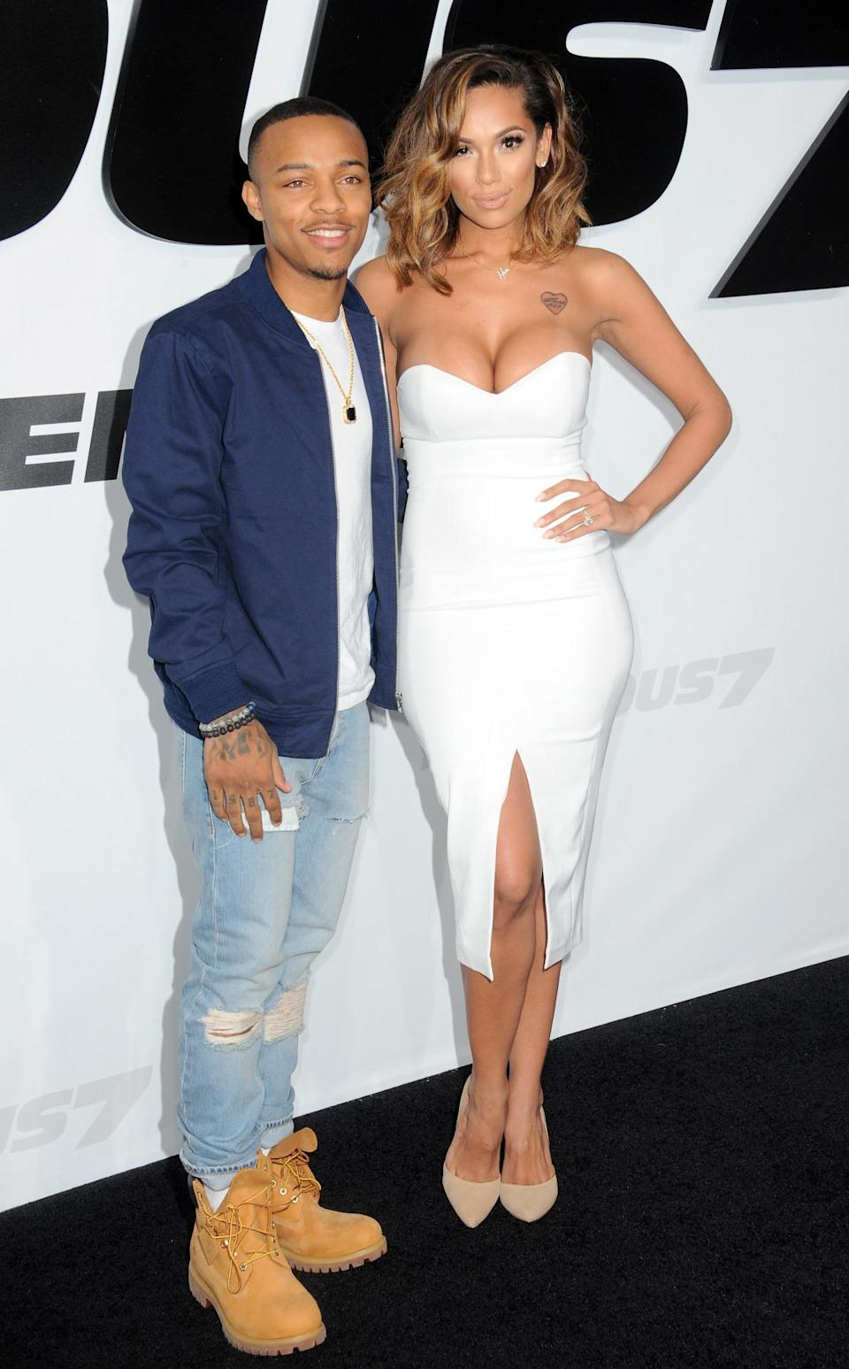 """Bow Wow might not be """"Lil"""" anymore but his fiancé in high heels surely makes him look it."""