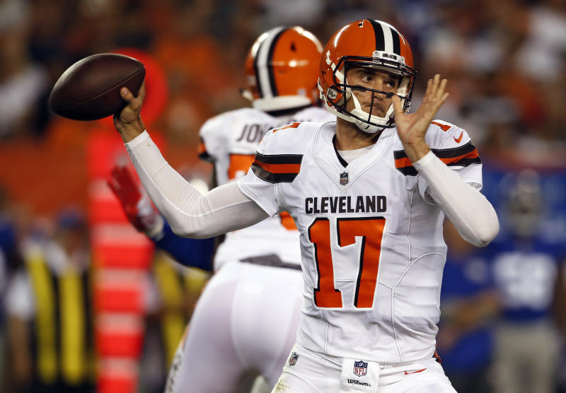 Brock Osweiler has started both of the Browns' preseason games. (AP)