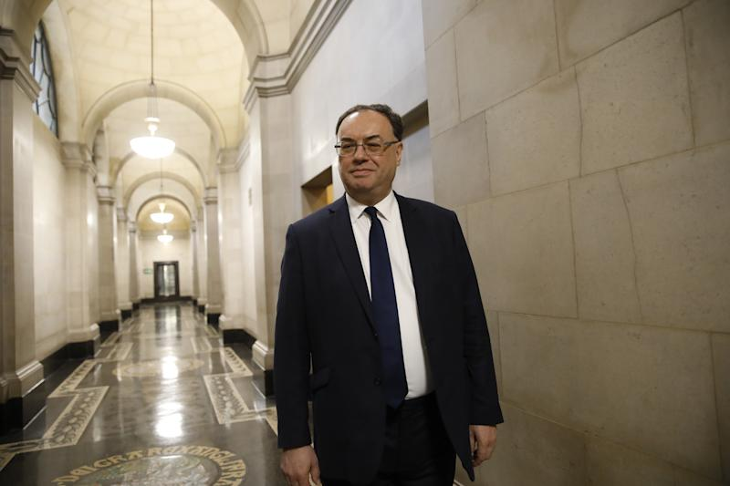 Bank of England governor Andrew Bailey. (Tolga Akmen - WPA Pool/Getty Images)