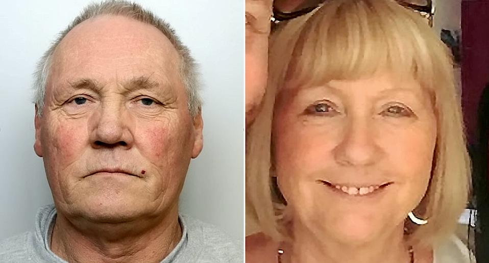 Michael Reader, 70, shot Marion Price, 63, with a shotgun after he was ordered to pay her a £10,000 divorce settlement. (SWNS)